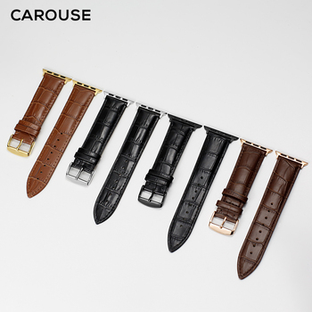 Carouse Originali Veršiena Apyrankę, Apple Watch Band Serijos 5/4/3/2/1 42mm 38mm Odinis Dirželis iWatch 44mm 40mm Watchband