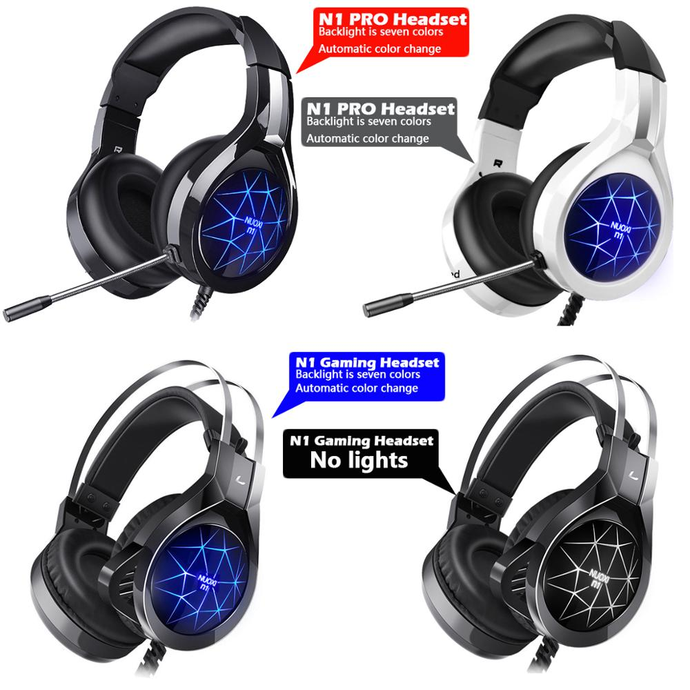 Žaidimų Ausinės PS4 Ausines Laidines Ausines Surround Sound Stereo & HD Su Mikrofonu, Šviesos Overear PC Laptop Tablet Gamer